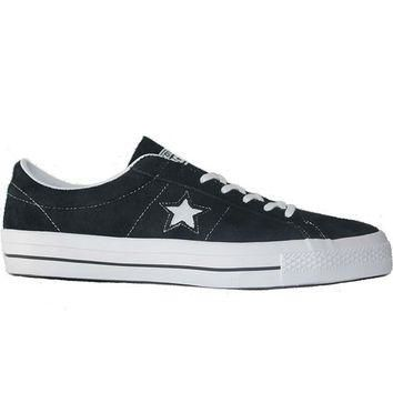 Converse One Star Ox - Black/White Suede Oxford Sneaker
