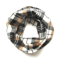 Plaid Scarf, Fall Scarf, Toddler Scarf, Flannel Scarf, Girl Scarf, Boy Scarf, Childrens Scarves, Baby Bib Scarf, Unisex Scarf, Ready to Ship