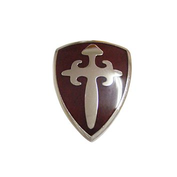 Brown Medieval Shield Magnet