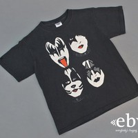 Kid's Vintage Children's Vintage Girl's Vintage Boy's Vintage Kiss Tour T Shirt Kiss Tour Tee Youth L TShirt Kiss Concert Tee Band Tee