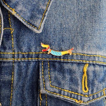 Trendy Animal dog pins Brooches Badges Hard enamel pins Accessory Fashion Denim jacket tote bag backpack Dog jewelry Gift for kids AT_94_13