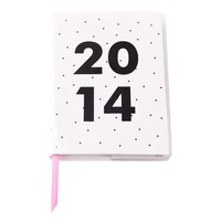 2014 A6 WEEKLY DIARY: B&W - Diaries & Calendars