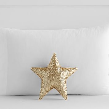 Sequin Star Shaped Decorative Pillow