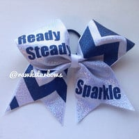Chevron Glitter Cheer Bow
