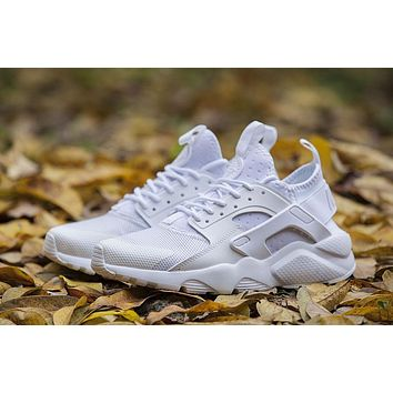 Best Online Sale Nike Air Huarache 4 Run Rainbow Ultra Breathe Women Men All White Run