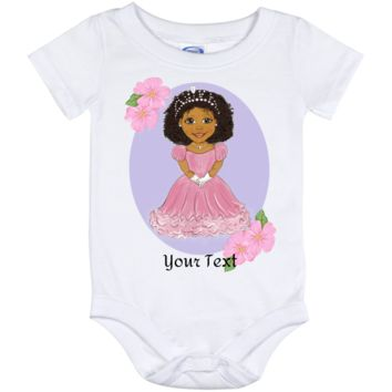 Personalized Baby Onesuit 12 Month African American Princess Design
