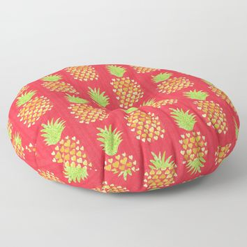 Heart Pineapples Metal Print by Noonday Design