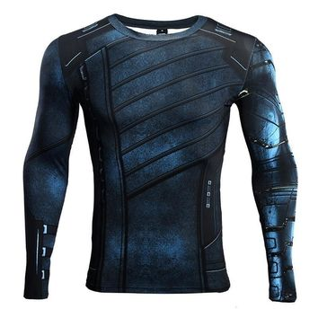 Avengers: Infinity War Winter Soldier Bucky Barnes 3D Printed T shirts Men Compression Shirts Crossfit Tops For Male Cosplay