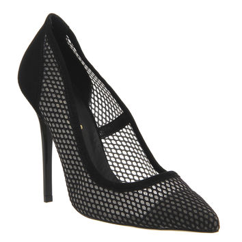 Office On Tops Point High Heels Black Mesh - High Heels