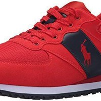 Polo Ralph Lauren Men's SLATON Shoe, RL Red/Nacy, 8 D US