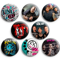 Blink-182 Pinback Buttons Badge 1.25 inch (Set of 8) NEW