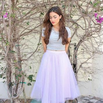 LIGHT PURPLE TULLE SKIRT (circle)