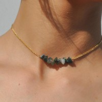 Natural Stone Choker Necklaces Gold Color Chain Necklace for Women Jewelry Party Gift 171129