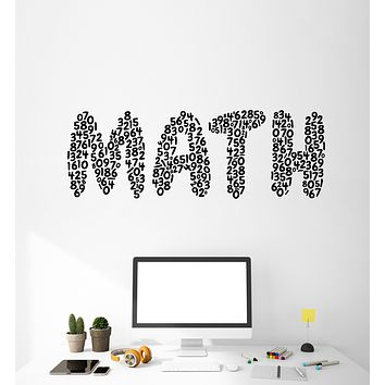 Vinyl Wall Decal Mathematics Math Symbols Numbers Teen Room Stickers Mural (g2563)