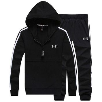 DCCKHI2 Under Armour PRINT HOODIE TOP AND TWO PIECE SUIT BLACK Tagre-