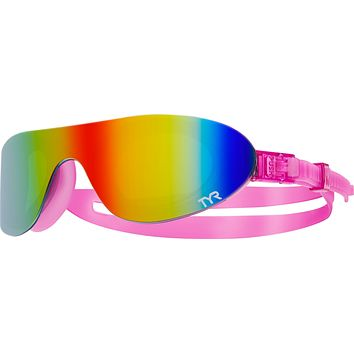 Tyr - Swim Shades Pink Swim Goggles / Mirrored Rainbow Lenses