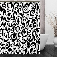 Retro Black white pattern custom Shower Curtain Home Decor Bath curtain for the bathroom