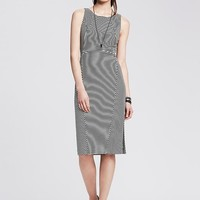 Banana Republic Womens Multi Stripe Ponte Sheath