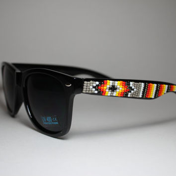 Beaded Sunglasses Native American Tribal Design by brownbeadednet