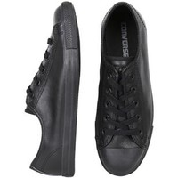CT DAINTY ALL STAR LEATHER MONO BLACK