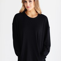 Black DLMN Oversized Pocket Sweatshirt