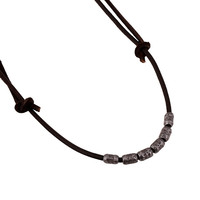 Stylish Gift Shiny New Arrival Jewelry Style Leather Men Alloy Vintage Beach Chain Necklace [6526581315]