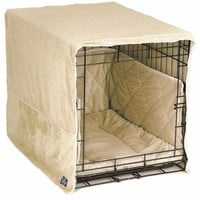 Plush Dog Crate Cover – Medium