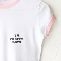 I ♥ Pretty Boys Ringer Tee