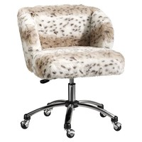 Snow Leopard Wingback Chair