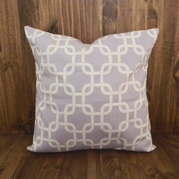 Lilac Squares 16 x 16 Pillow Cover, houswarming gift, cushion cover, spring room decor, kids bedroom