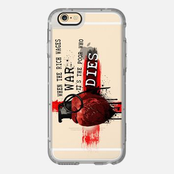 When The Rich Wages War... - Transparent iPhone 6 case by Nicklas Gustafsson   Casetify