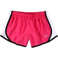 NIKE TEMPO SHORT WOMENS 455912-613 (S, CHERRY-PINK/BLACK/WHITE)