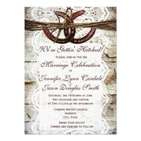 Rustic Country Horseshoe Wedding Invitations