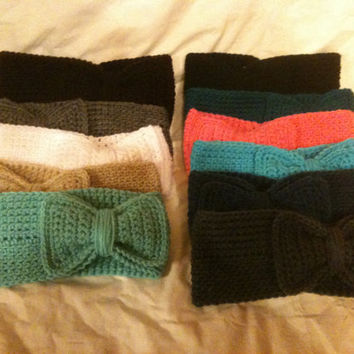 Bow Ear Warmer by BrighterDaysAhead on Etsy