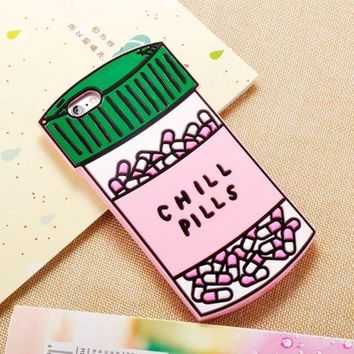 Chill pills 3d iPhone phone case