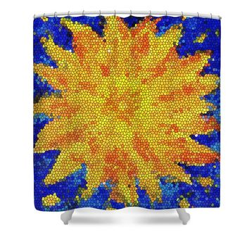 Sunflower in the night Shower Curtain for Sale by Kathleen Wong