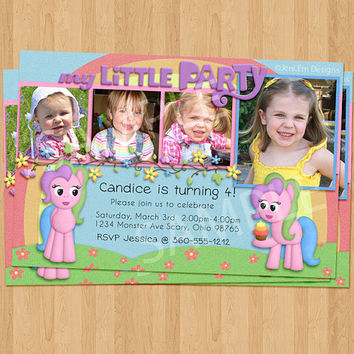 My Little Party Birthday Invitation - Printable, Pony, Horse, Photo Spots