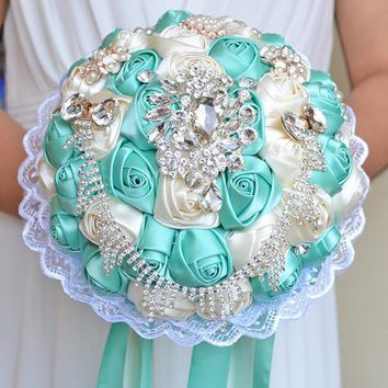 Artificial Bouquet Wedding Handmade Holding Flowers For Bride Wedding Accessory Bouquet