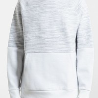 Men's Topman Block Space Dye Pocket Raglan Sweatshirt