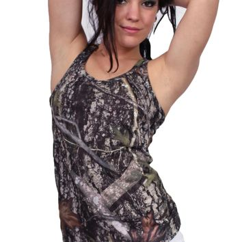 Women's Camo Tank Top True Timber Racer Back Made in the USA