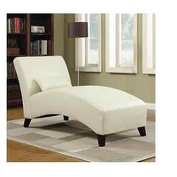 Cream Chaise Lounge Bedroom Furniture High End Modern Home Living Chair New