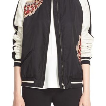 Belstaff 'Varley' Embroidered Satin Track Jacket | Nordstrom