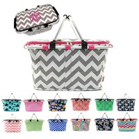 Personalized Large Picnic Basket Insulated Cooler Tote Bag