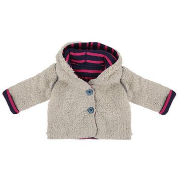 Reversible Pink Teddy Bear Coat by Lilly+Sid