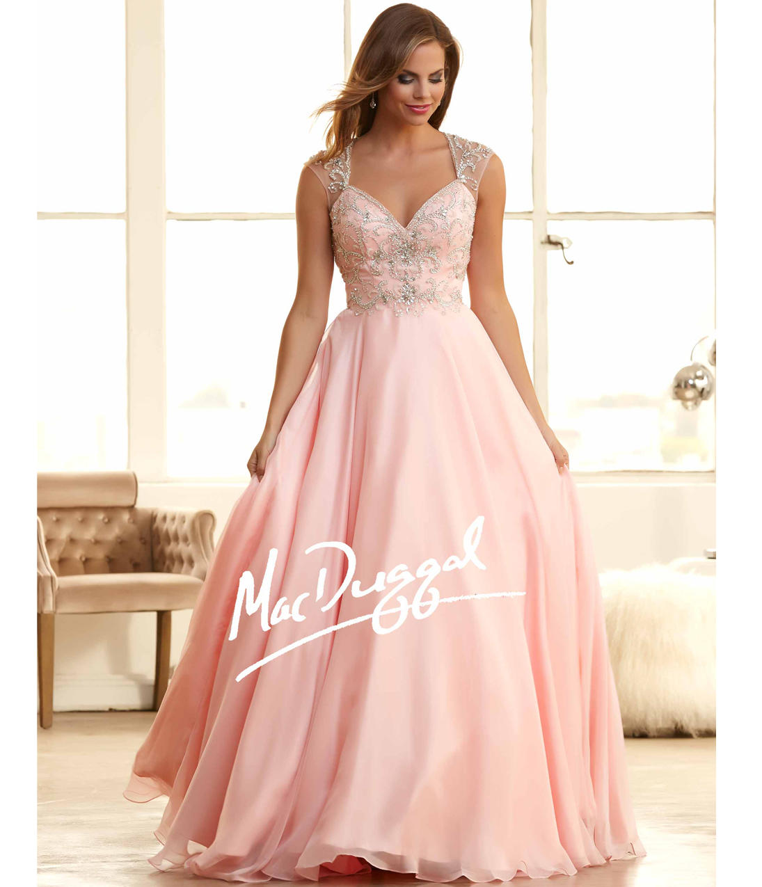 Mac duggal 65083h blush pink embellished from unique vintage mac duggal 65083h blush pink embellished sweetheart ball gown 2015 prom dresses ombrellifo Gallery