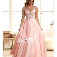 Mac Duggal 65083H Blush Pink Embellished Sweetheart Ball Gown 2015 Prom Dresses