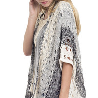 Sunset open Front Poncho Sweater