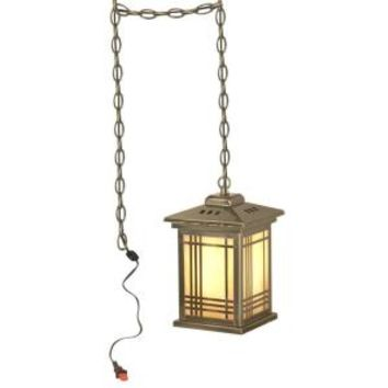 Dale Tiffany, Tiffany Avery Lantern with Swag 1-Light Hanging Antique Brass Mini-Pendant Lamp-DISCONTINUED, STH11026 at The Home Depot - Mobile