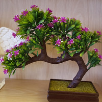 Artificial Plants Plastic Flower Bonsai Artificial Green Plants  Decorations