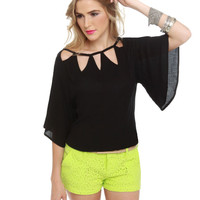 BB Dakota by Jack Sybella Top - Black Top - $54.00